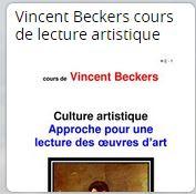 Vincent Beckers cours de lecture artistique