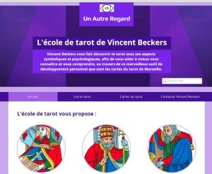 Site de l'école de tarot de vincent beckers : cours de tarot gratuit en ligne