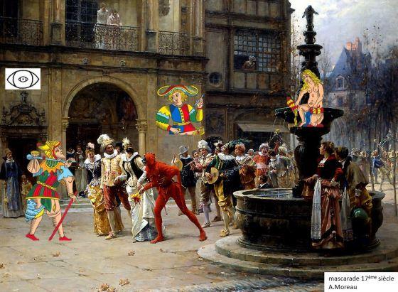 mascarade carnavale carte tarot marseille